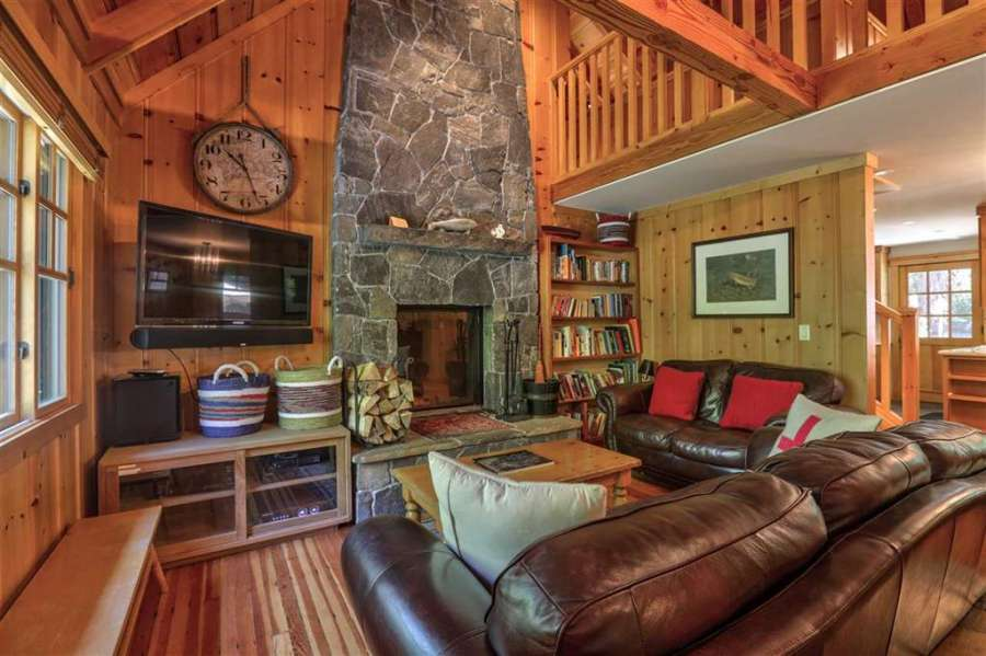 Tahoe Park Cabin Living room | 350 Fountain Way