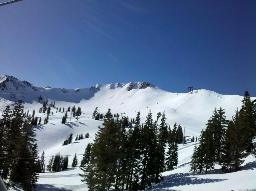 The Palisades and Siberia Bowl at Squaw Valley