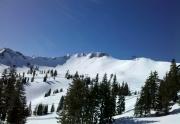 The Palisades and Siberia Bowl at Squaw Valley