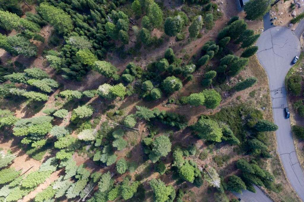 Truckee  Real Estate for Sale  | 10530 Aspenwood Rd |  Overhead View of Truckee Lot for Sale