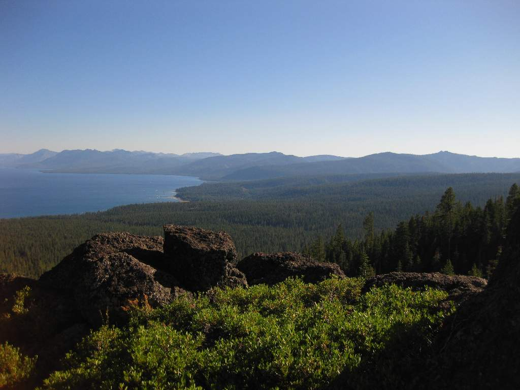 View of Tahoe City from the Rim Trail