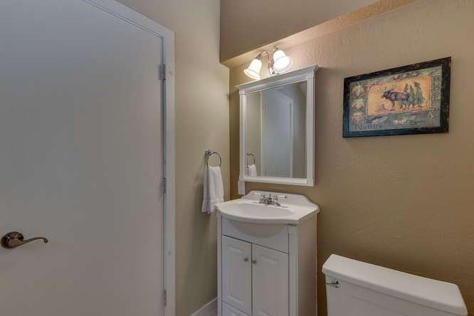 Tahoe City Cabin Real Estate | 1640-Cedar Crest Ave | Half Bathroom