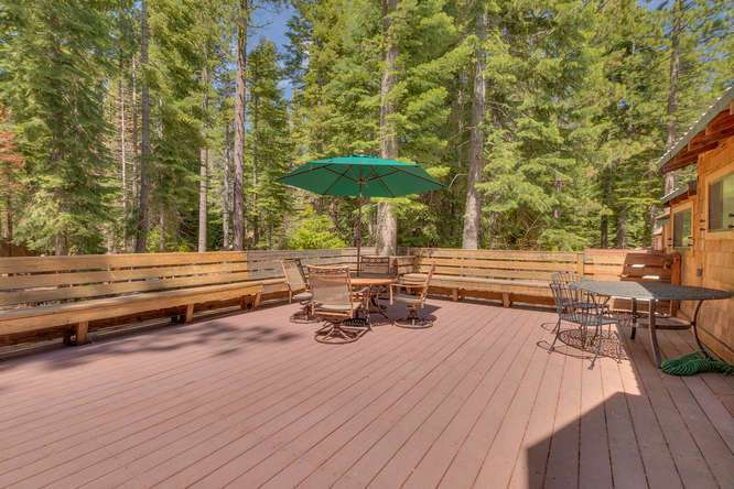 Tahoe City Cabin Real Estate | 1640-Cedar Crest Ave | Deck