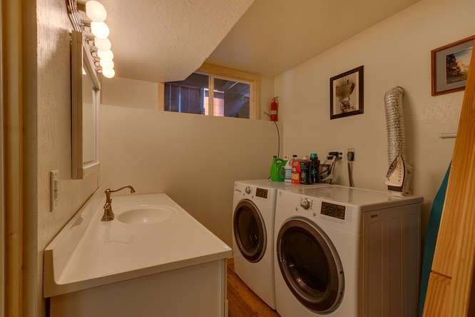 North Lake Tahoe Real Estate | 640 Rawhide Dr Tahoe City CA | Laundry