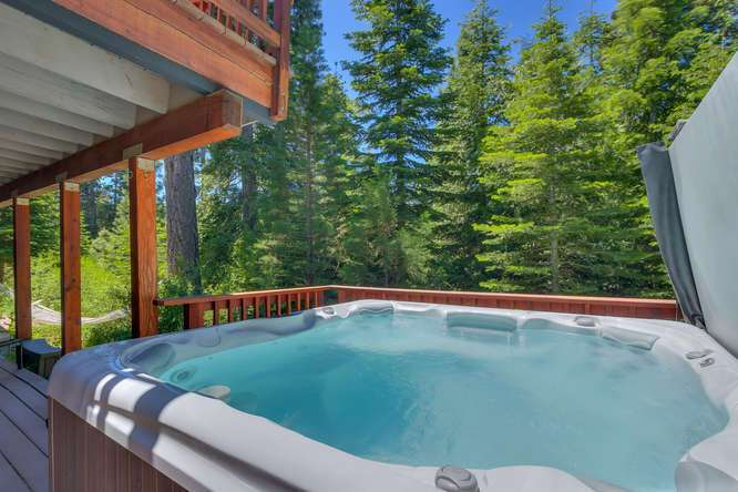 Lake Tahoe Real Estate | 640 Rawhide Dr Tahoe City CA | Hot Tub