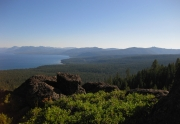 Tahoe City from the Tahoe Rim Trail | North Lake Tahoe Real Estate