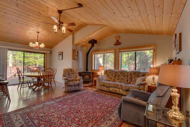 Tahoe Donner Home for Sale | Open Living Room