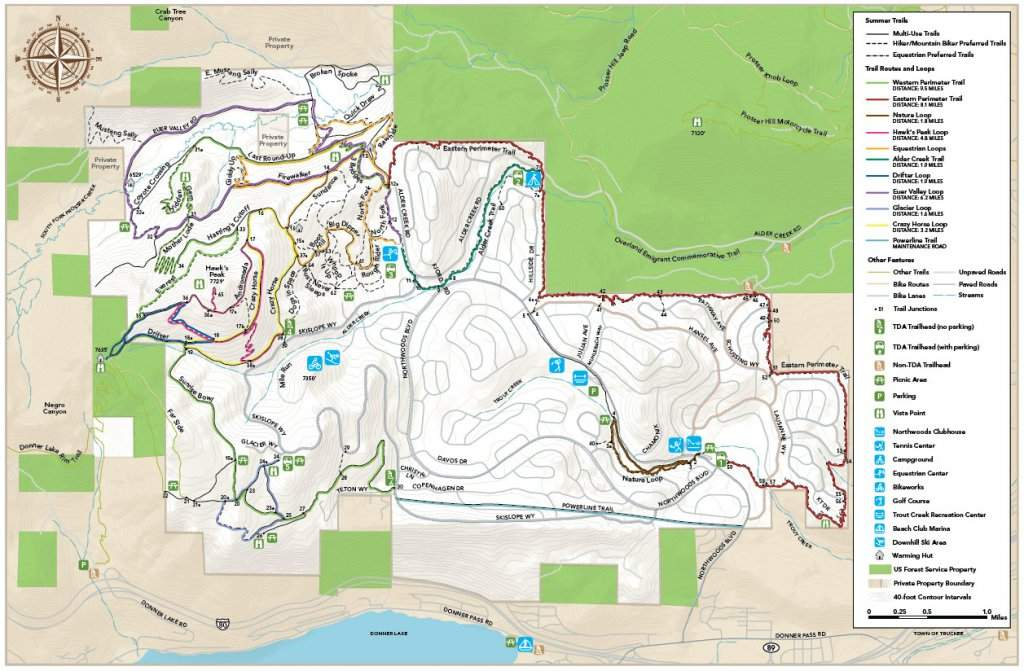 Tahoe Donner Multi-Use Trail Map