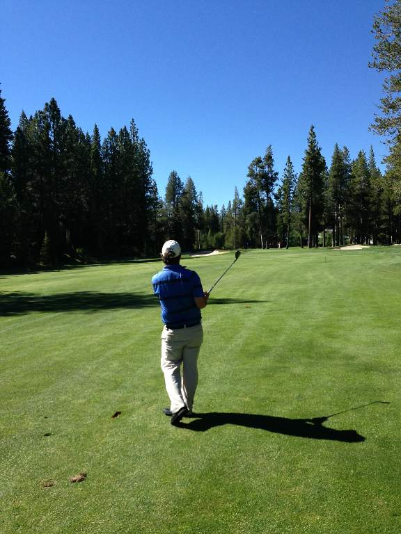 Golfing at Tahoe Donner Golf Course