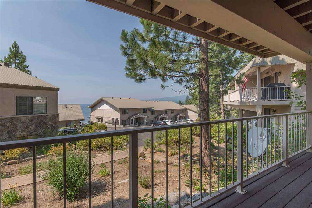 North Lake Tahoe Condo | 7580 North Lake Blvd | Deck with Lake Tahoe View