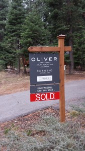 Oliver Real Estate Sold sign for Selling Lake Tahoe Real Estate