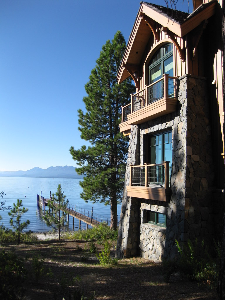 Image of Lake Tahoe home for sale for Lake Tahoe Lakefront Real Estate Market blog post
