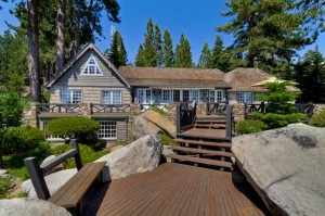 9922 Lake Street | Lake Tahoe Lakefront Home front image for Top 10 Luxury Home Sales in North Shore Lake Tahoe 2013 blog post