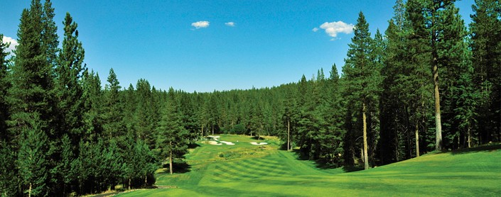 Image of golf course in lake tahoe for Tahoe Golf Real Estate page