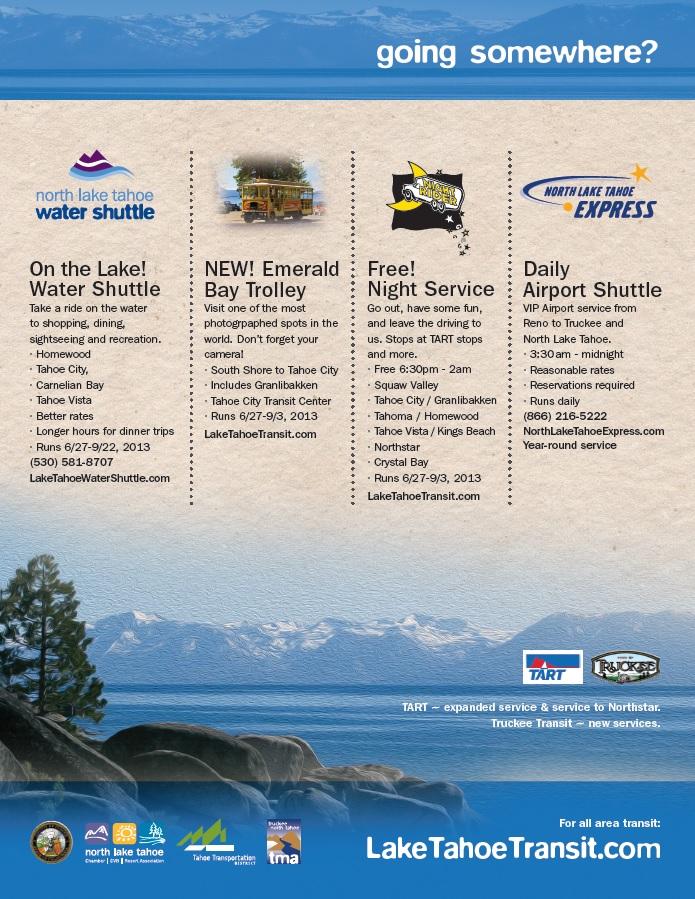 N Tahoe - Truckee Transit Info