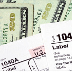 image of tax return for Homeowner Tax Deductions 2014 blog post