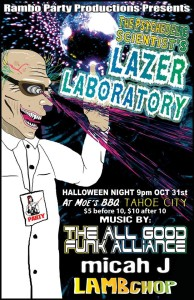 The Psychedelic Scientist's Lazer Laboratory | Halloween Parties in North Lake Tahoe