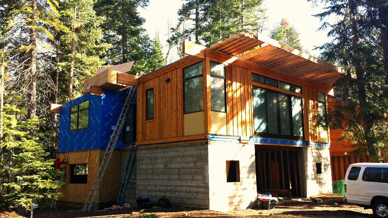 Modular home construction on the west shore of lake tahoe for Lake house construction
