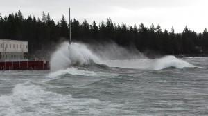 Huge Lake Tahoe Waves