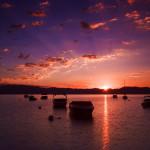 Image of sunset on Majestic Lake Tahoe for Breathtaking Timelapse of Lake Tahoe California blog post