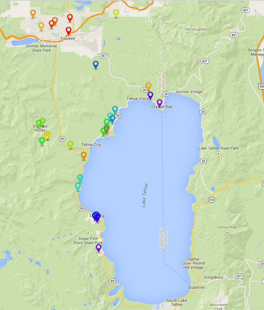Westall Real Estate Lake Tahoe Sales Map for Westall Real Estate Sales Map blog post