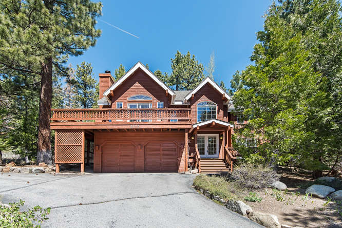 front view of 3175 Polaris Road   Tahoe City Home for Sale