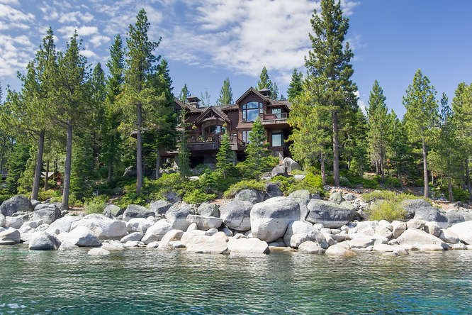 8217 Meeks Bay Avenue | Meeks Bay Real Estate on lake tahoe, image of lake with trees and beautiful home