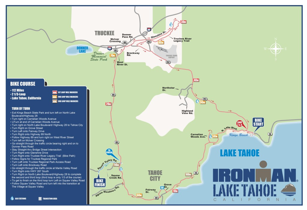 IRONMAN Lake Tahoe Bike Course