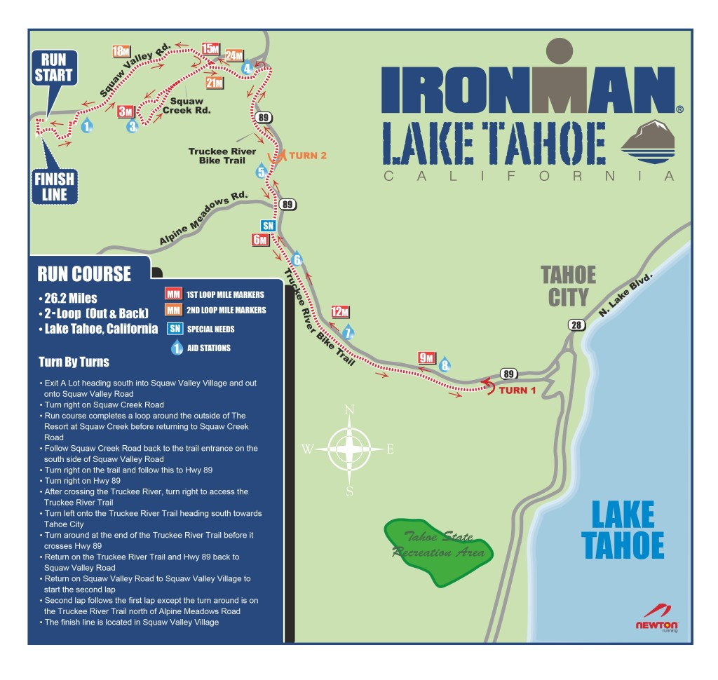 IRONMAN Lake Tahoe Run Course