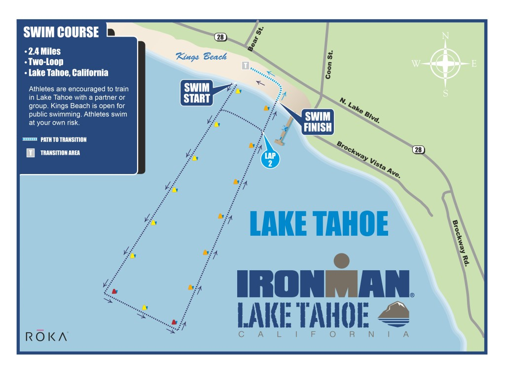 IRONMAN Lake Tahoe Swim Course