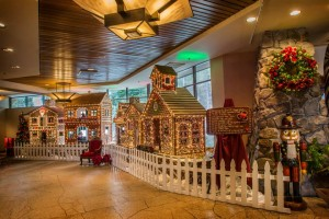 Image of gingerbread house with lights for Resort at Squaw Creek Magical Memories How to Spend the Holidays in North Lake Tahoe blog