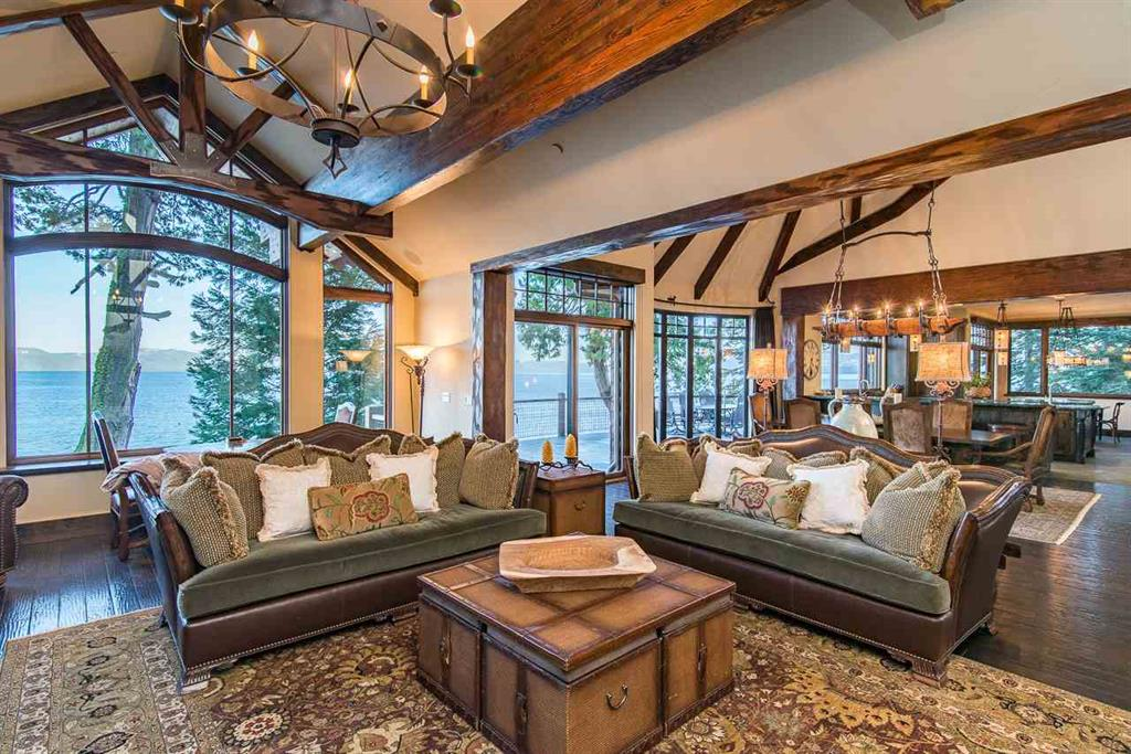 image of insdie of Lake Tahoe Luxury Home with view of Lake Tahoe