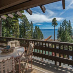 Image of Lake Tahoe from deck of Cedar Point Real Estate 1200 West Lake Blvd | Cedar Point Condo for sale