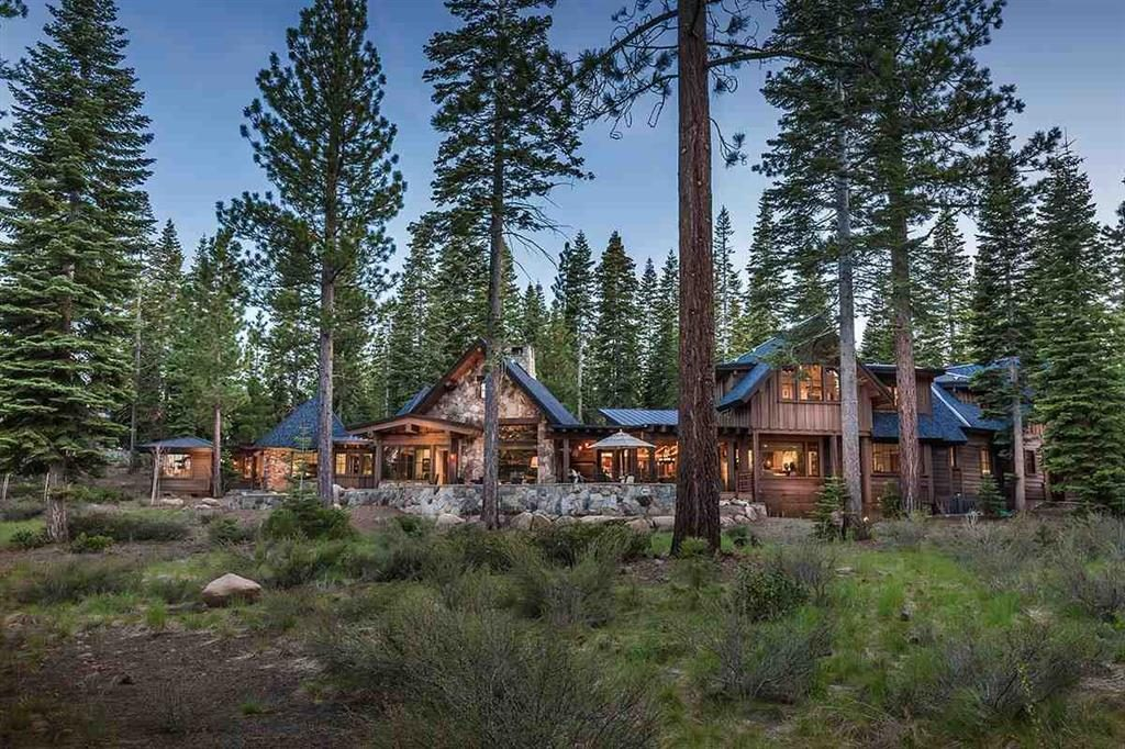 image of North Lake Tahoe Luxury Home nestled among the trees with beautiful architecture