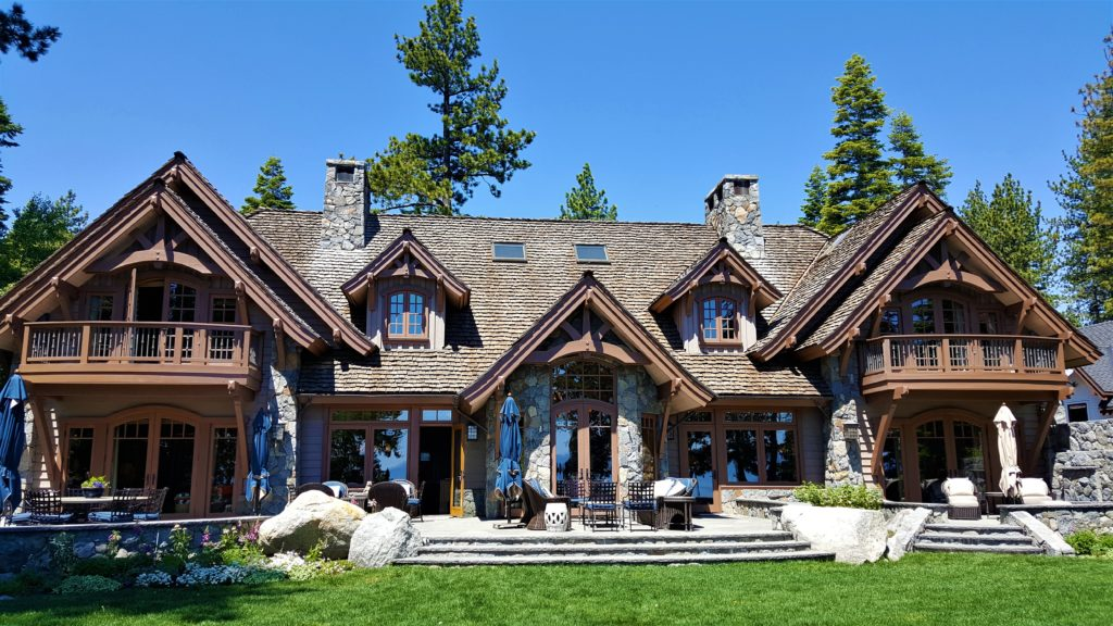 Lake Tahoe Lakefront Real Estate | beautiful front of home on lake tahoe