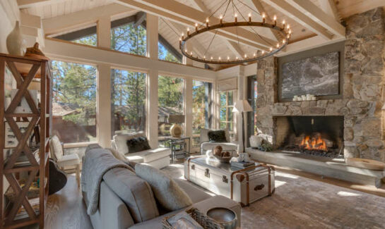 Image of of front room and view of 115 Tahoma Ave   Dollar Point Luxury Home