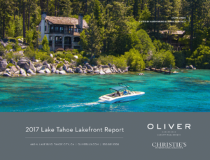 2017 Lake Tahoe Lakefront Real Estate Market Report