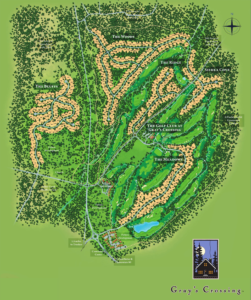 Grays Crossing Community Map and Grays Crossing Golf Course Map