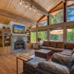 Living Room of Tahoe City Mountain Home