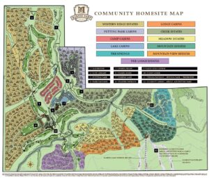 Martis Camp Community and Subdivision Map