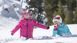 Image of kids playing in the snow for February Events in North Lake Tahoe