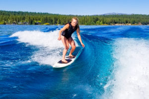 Lake Tahoe Real Estate - Wakesurfing